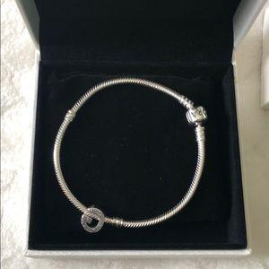 Pandora Bracelet with G initial